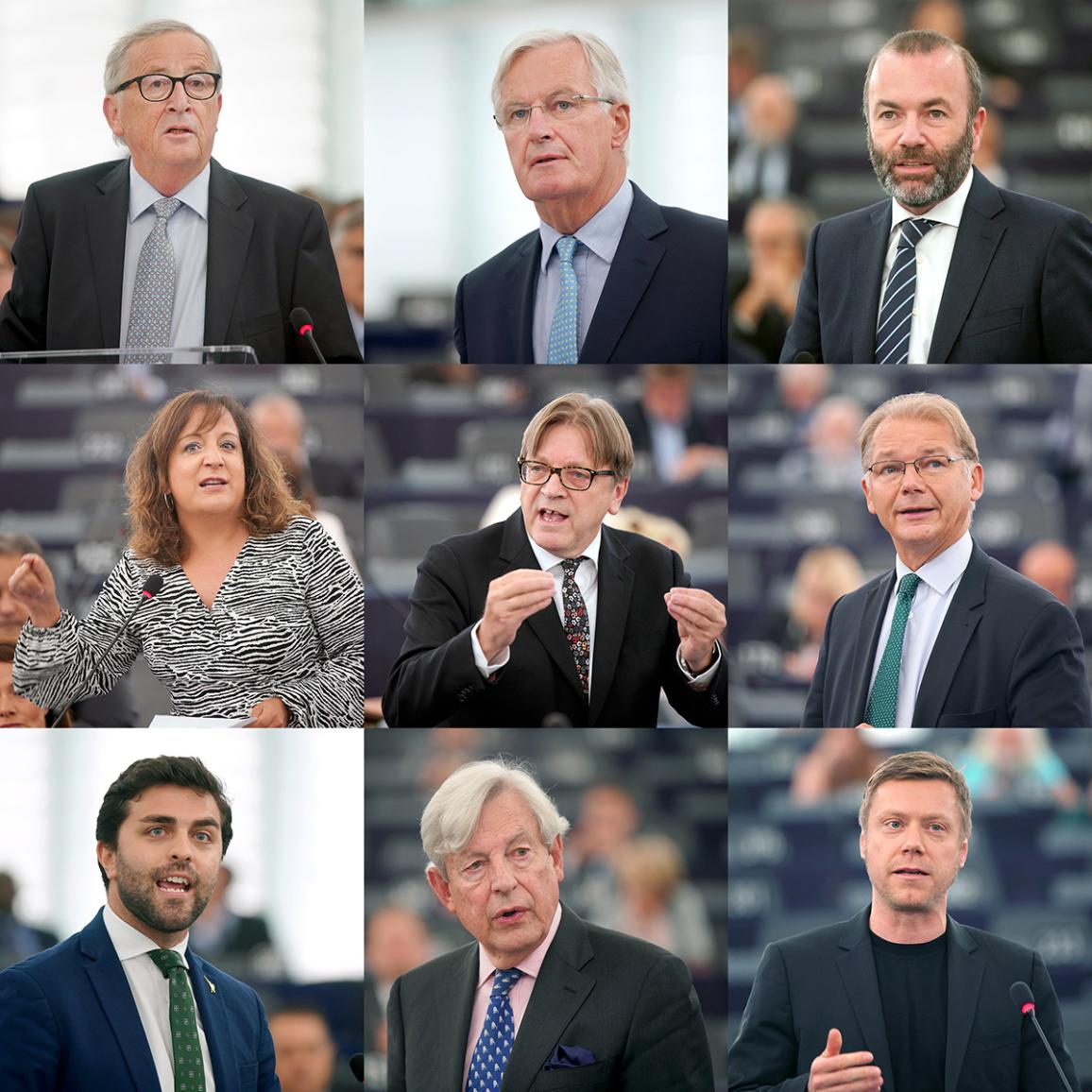 Speakers in the debate:Jean-Claude Juncker; Michel Barnier; Manfred Weber; Iratxe García Pérez; Guy Verhofstadt; Philippe Lamberts; Marco Zanni; Geoffrey Van Orden; Martin Schirdewan.