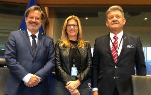 the newly elected Bureau of the Delegation for Relations with Canada, Stéphanie Yon-Courtin, Javier Moreno Sánchez and Mircea-Gheorghe Hava