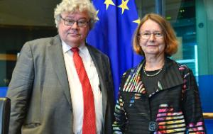 D-CN Chair Reinhard Bütikofer and Vice-Chair Evelyne Gebhardt