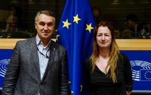 D-AF Chair Petras AUŠTREVIČIUS and Vice-Chair Clare DALY