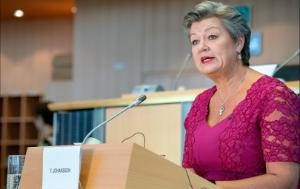 Ylva Johansson Commissioner for Home Affairs