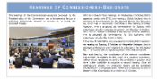 front page of IMCO newsletter, issue 104 - hearings of Commissioners-designate