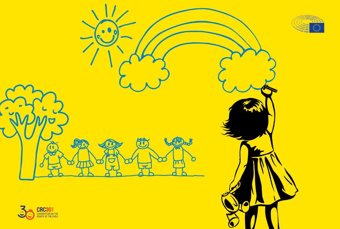 ilustrácia  dieťaťa kresliaceho na stenu