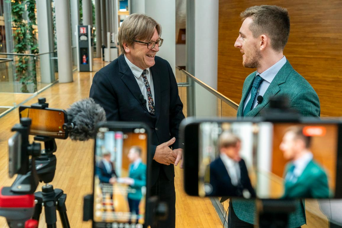 LIVE interview with Guy Verhofstadt (ALDE, BE), the European Parliament's Brexit Coordinator