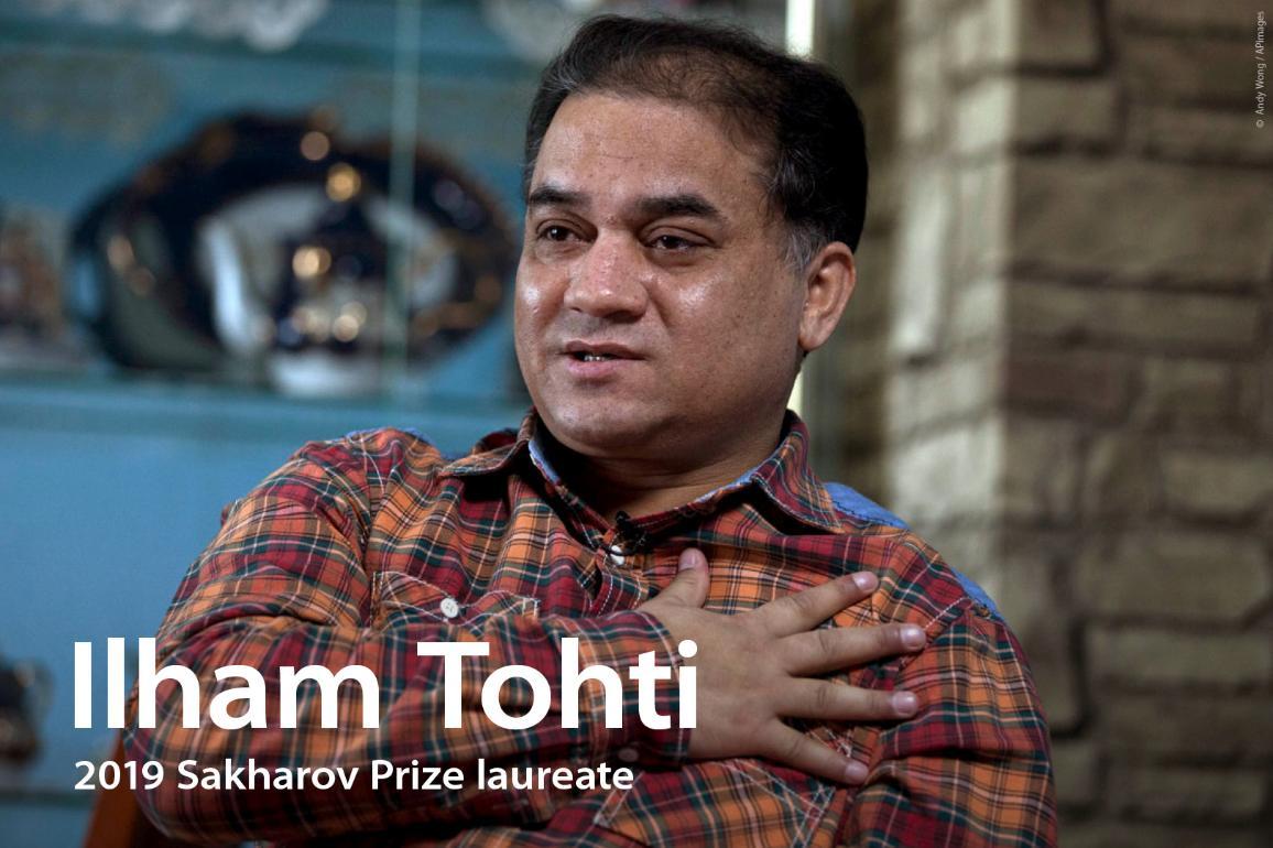 Ilham Tohti, lauréat 2019 du Prix Sakharov pour la liberté de l'esprit.
