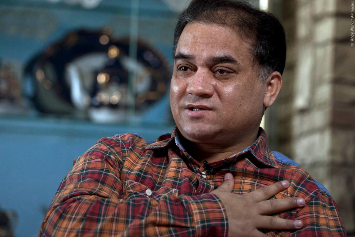 Winner of 2019 Sakharov Prize is Ilham Tohti © Andy Wong/AP images