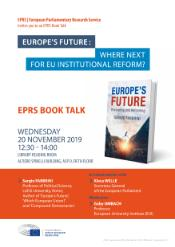 EPRS Book talk with Sergio Fabbrini on 20 November