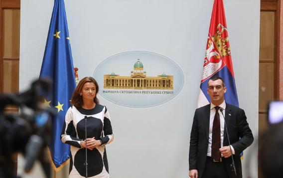 Press conference of the Co-Chairs at the end of the 11th EU-Serbia SAPC meeting, Belgrade, Serbia