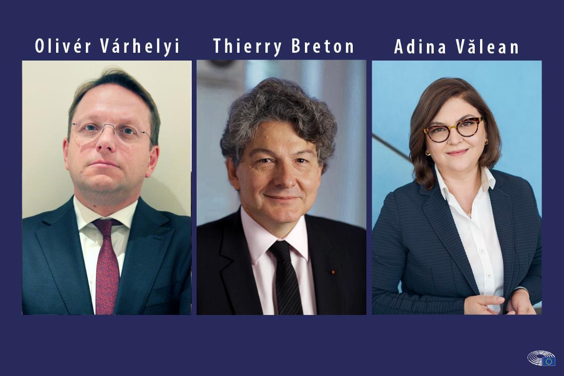 Torstaina 14. marraskuuta parlamentissa kuullaan kolmea komissaariehdokasta: Olivér Várhelyia (Unkari), Adina Văleania (Romania) ja Thierry Bretonia (Ranska)