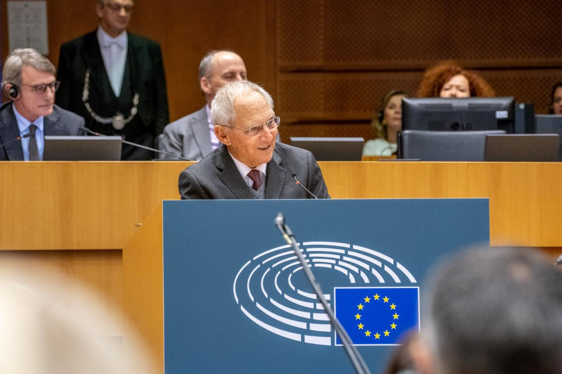 Wolfgang Schäuble speaks on 30th anniversary of the fall of the Berlin Wall