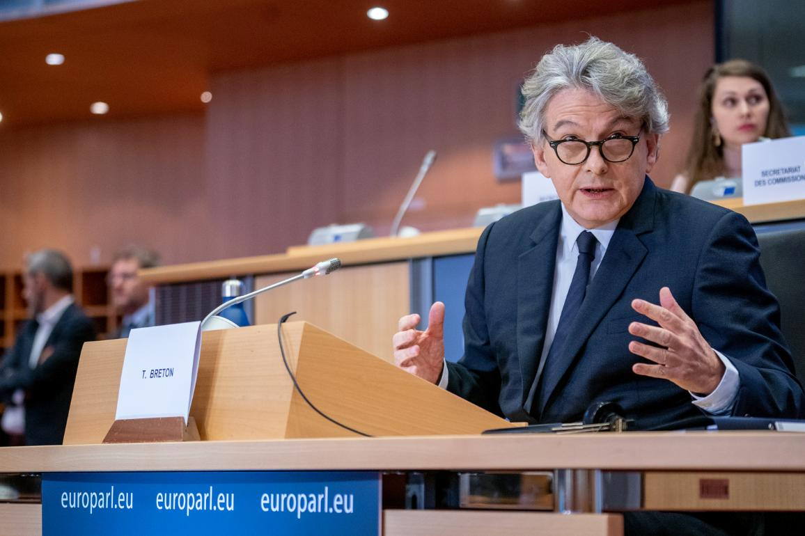 Hearing of Thierry Breton, France, candidate commissioner for internal market