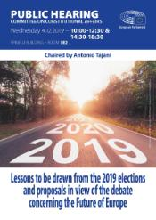 Lessons to be drawn from the 2019 elections and proposals in view of the debate concerning the Future of Europe