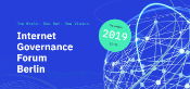 Banner of the 2019 Internet Governance Forum in Berlin