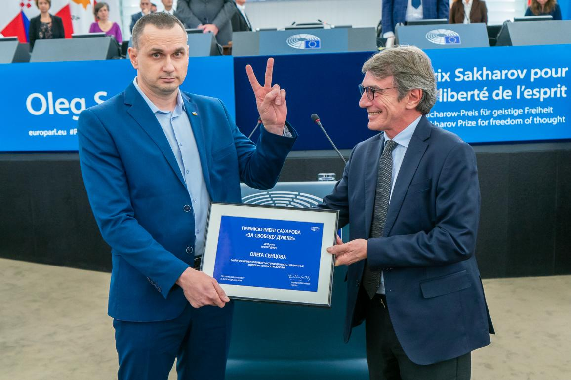 Oleg Sentsov 2018 Sakharov Prize Winner_