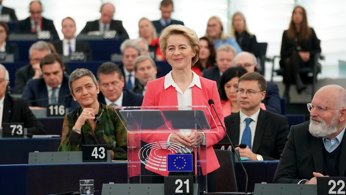 President-elect von der Leyen presents her team and vision to Parliament prior to the vote for the election of the Commission