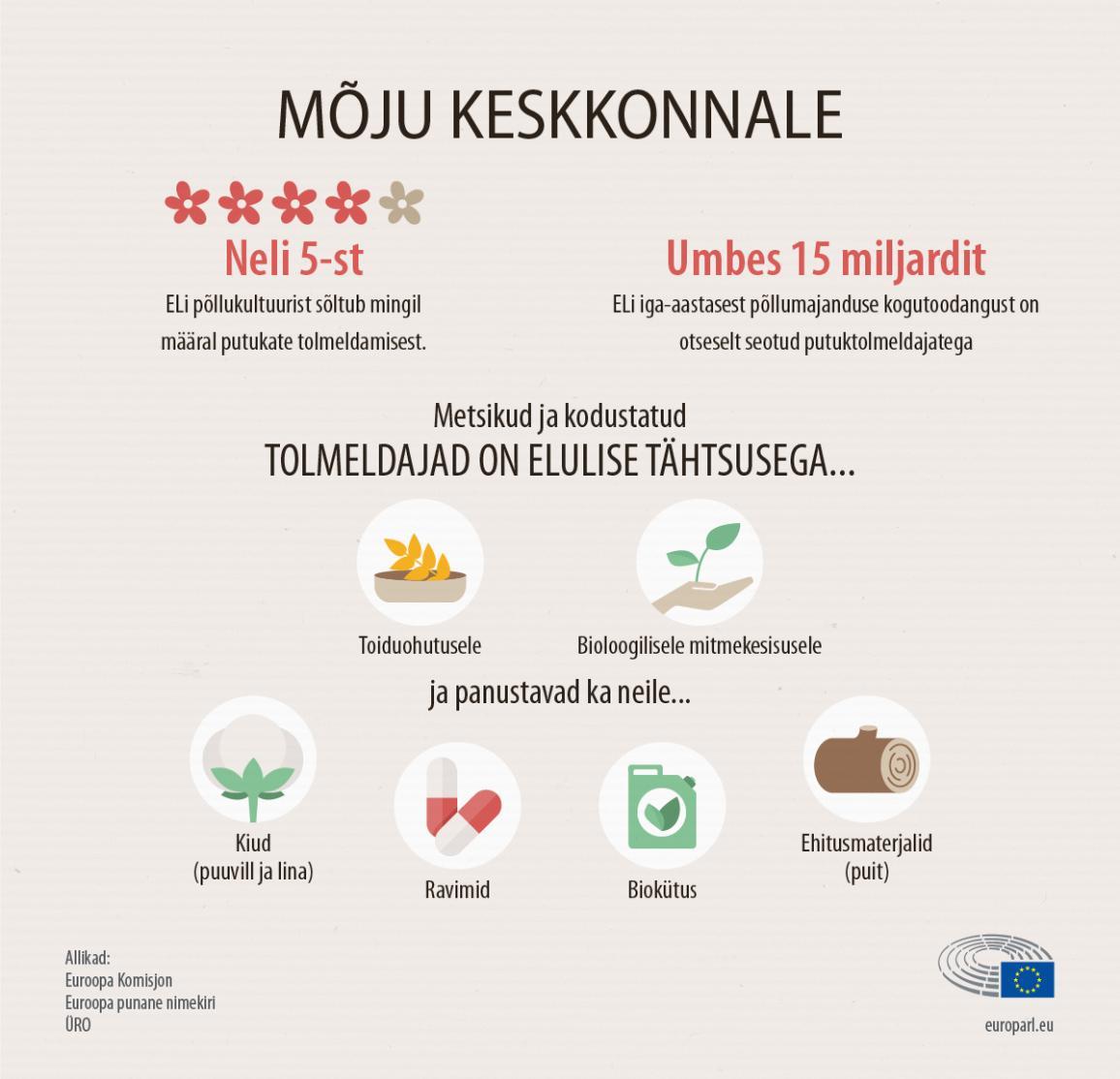 Infograafika: tolmeldajate kadumise mõju keskkonnale ja majandusele