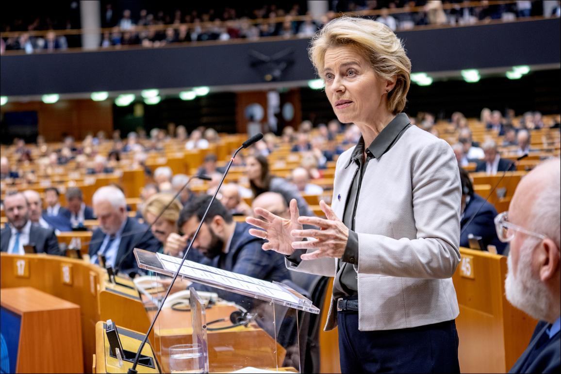 """Predsednica Evropske komisije Ursula von der Leyen evropskim poslancem: """"Stroški neukrepanja bodo vsako leto višji"""""""