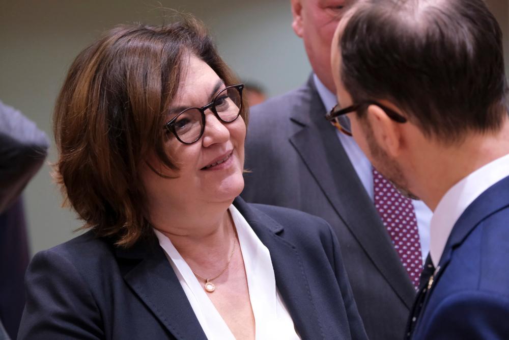 Brussels, Belgium. 2 December 2019. European Commissioner in charge of transport, Adina-Ioana Vălean attends in Transport Council at the European Council.