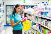 buying woman hygiene protection