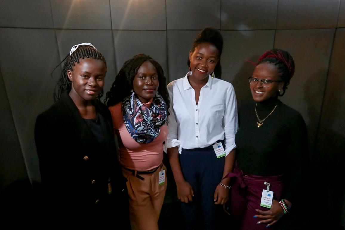 The Restorers, 2019 Sakharov Prize finalists, a group of five students from Kenya who have developed an app helping girls deal with female genital mutilation.