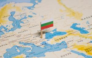 The Flag of Bulgaria in the World Map