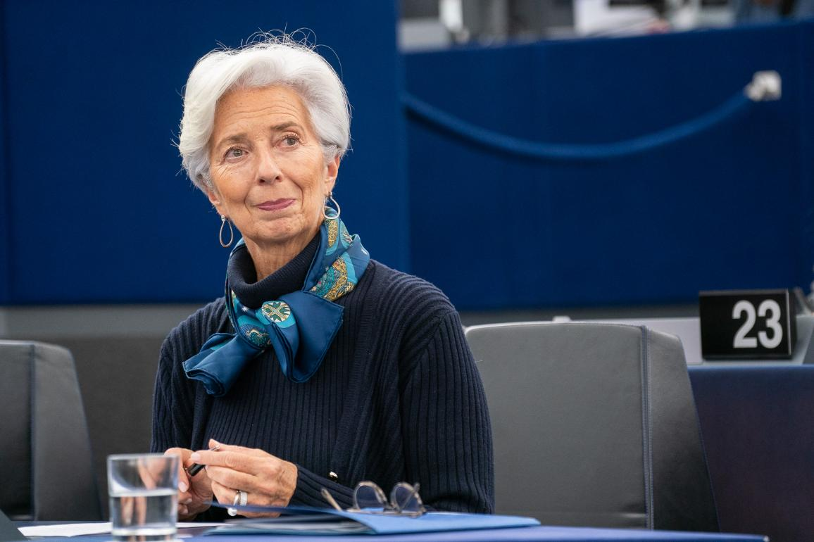 ECB President Lagarde at the plenary_