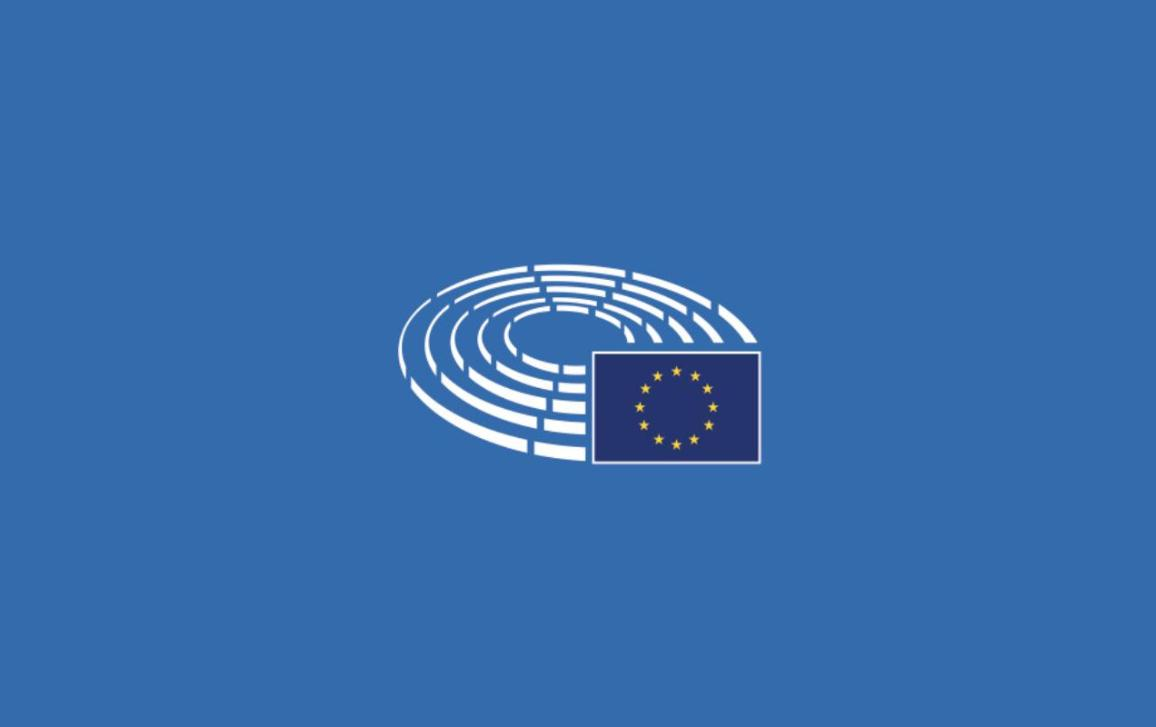 Cover picture representing the logo of the EP on a blue background
