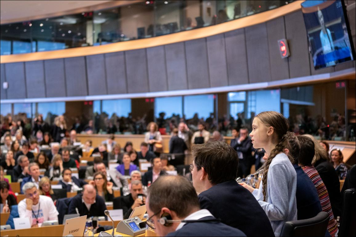 Climate activist Greta Thunberg discussed EU plans to tackle the climate emergency with Parliament's environment committee Wednesday.
