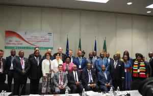 Family photo with the Members who participated in the 18th regional meeting of the ACP-EU JPA in February 2020