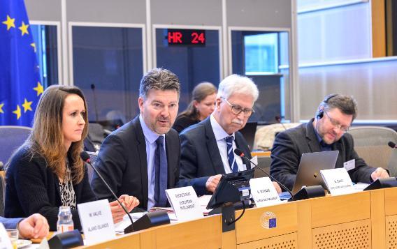 BSPC Standing Committee meeting, Brussels, 2 March 2020 - D-EEA Chair, MEP Schwab, adresses the participants