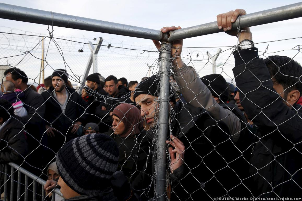 Migrants at the border ©REUTERS/Marko Djurica/stock.adobe.com