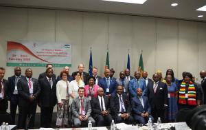 photo de famille de la18e réunion régionale de l'Assemblée parlementaire paritaire ACP-UE - Maseru (Lesotho)