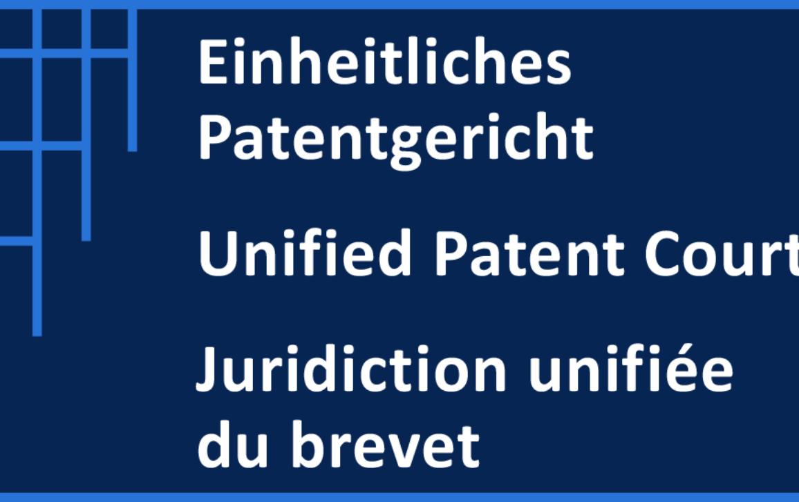 Trilanguage Unified Patent Court logo