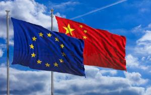 EU's and China's flag
