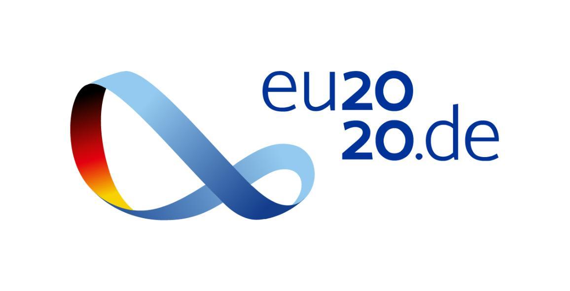 Logo de la présidence allemande du Conseil de l'UE 2020