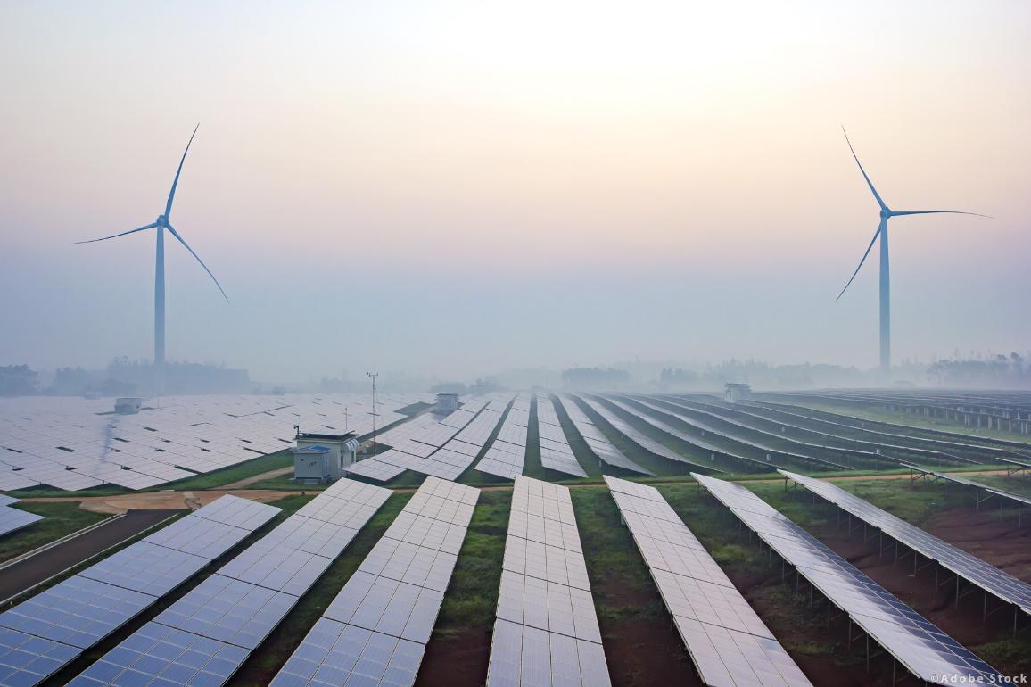 Before sunrise solar power plants ©Adobe Stock