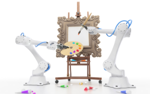 Robots painting a classical picture
