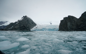 Melting icebergs on the Arctic