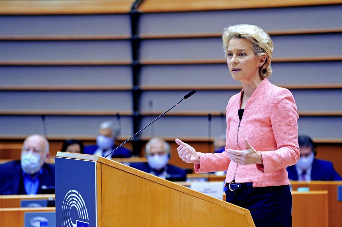EK vadovė Ursula von der Leyen