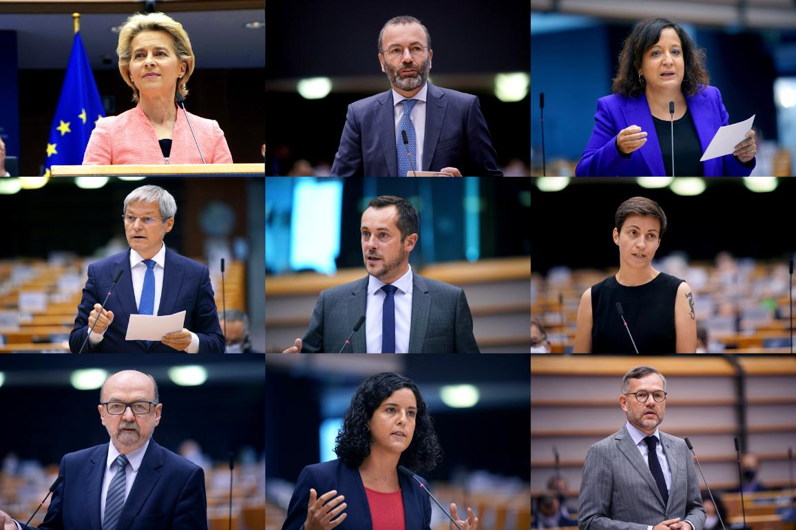 Speakers during the State of the European Union debate