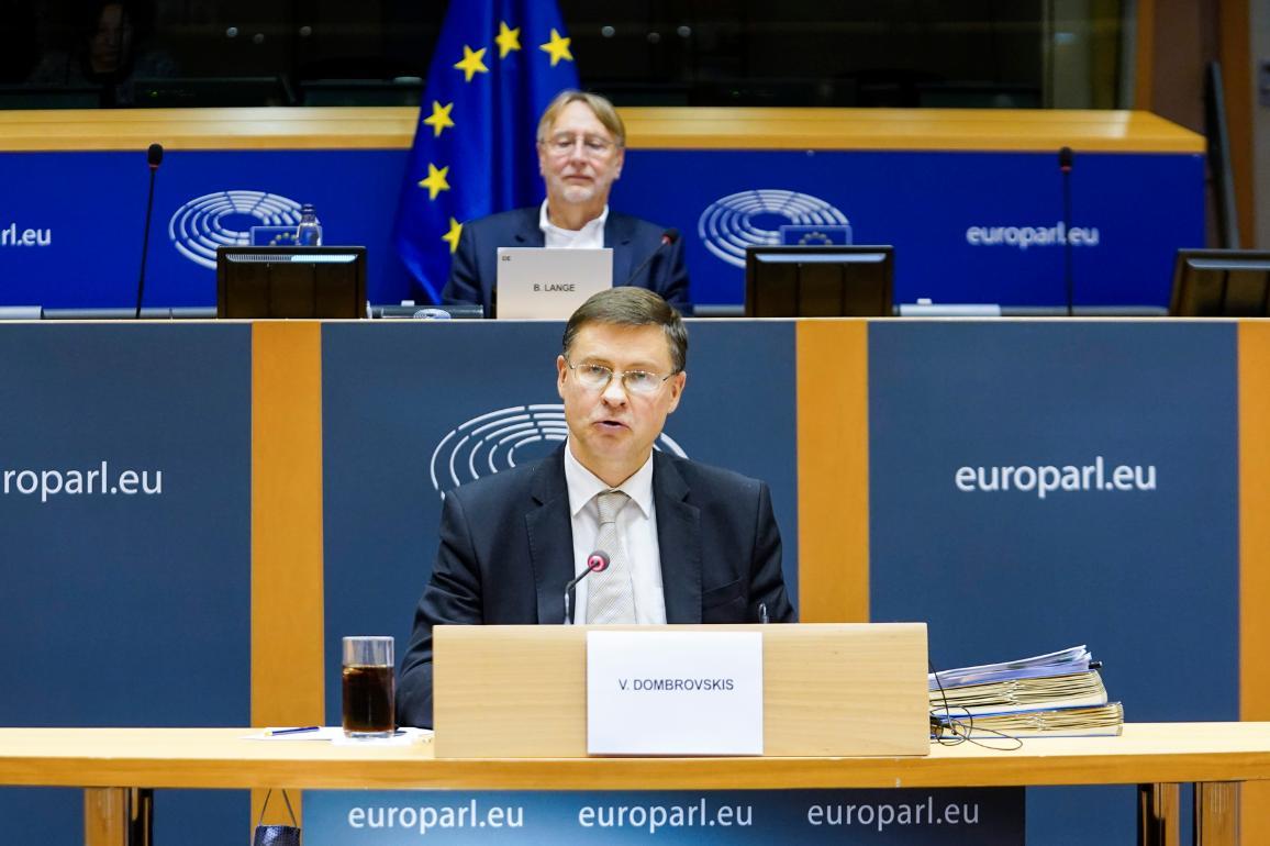 Hearing of European Commission Executive Vice-President Valdis Dombrovskis for the trade portfolio© European Union 2020 - EP