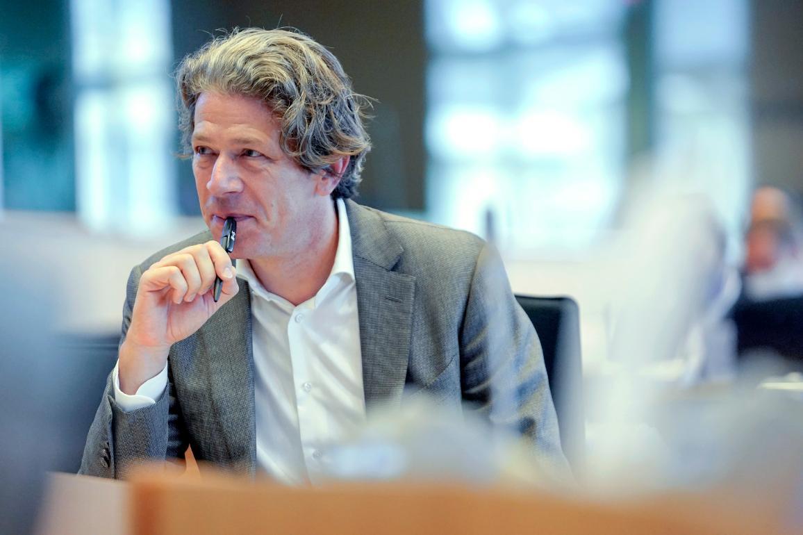 Le président de la commission FISC, Paul Tang (S&D, Pays-Bas)