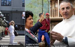 The democratic opposition in Belarus, Honduran environmental activists and the Archbishop of Mosul are the 2020 Sakharov Prize finalists.