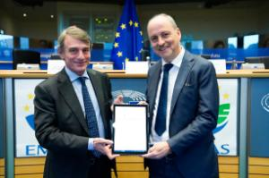the electronic signing of the environmental policy in November 2019 with the EP's President and the Secretary General