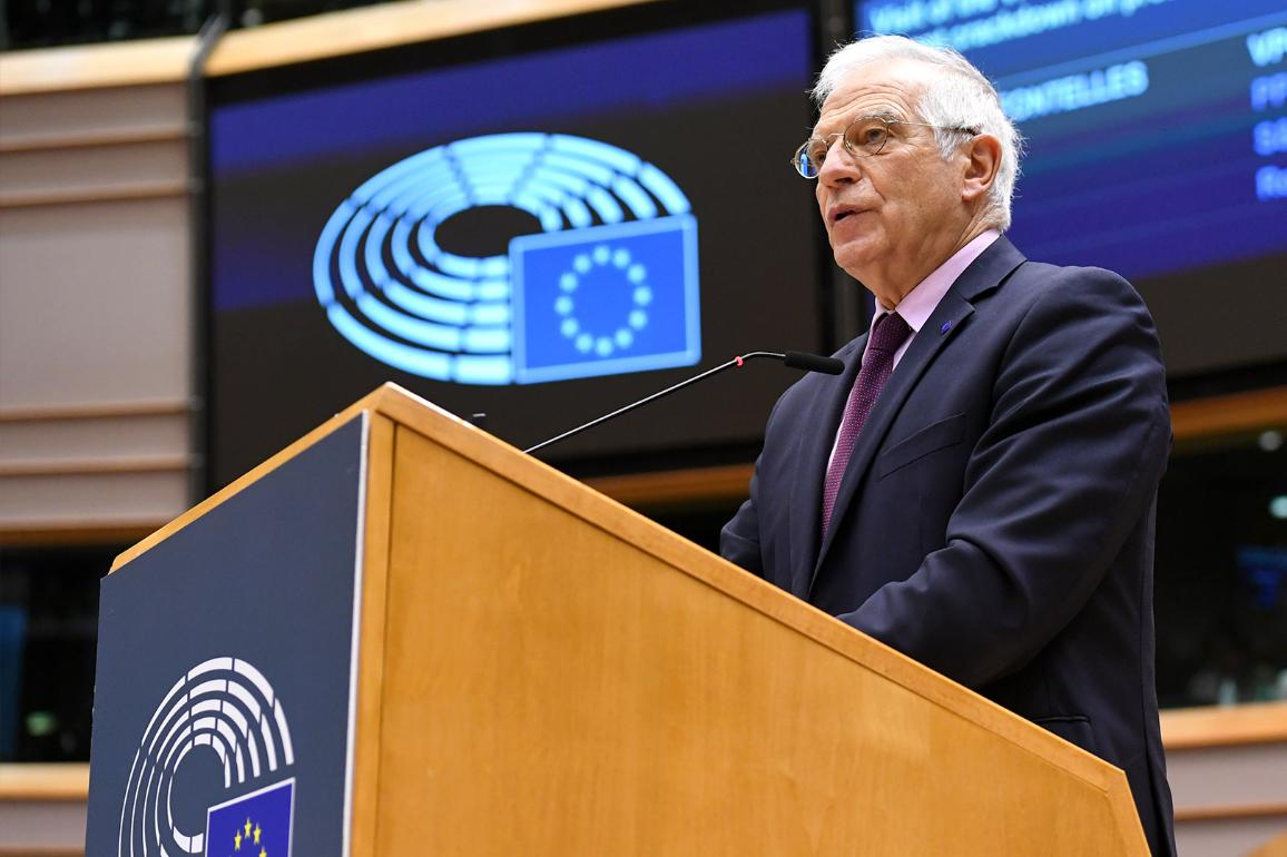 Josep Borrell reported back from his trip to Moscow, which was criticised by many MEPs © European Union