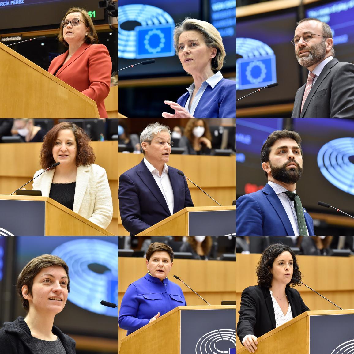 Účastníci plenárnej rozpravy EP o najnovšom vývoji v súvislosti so stratégiou EÚ v oblasti vakcín proti ochoreniu COVID-19.