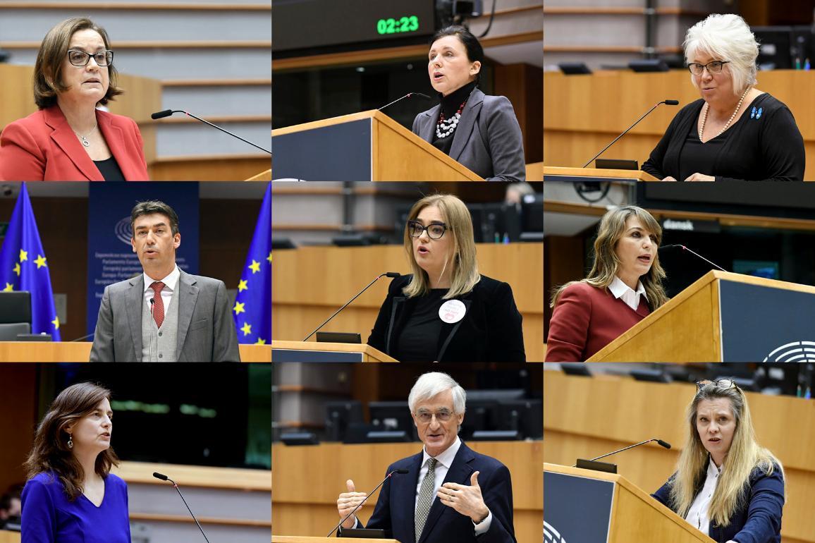 photos des députés intervenant pendant le débat
