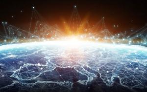 Global network and data exchange over Europe ©AdobeStock/Sdecoret
