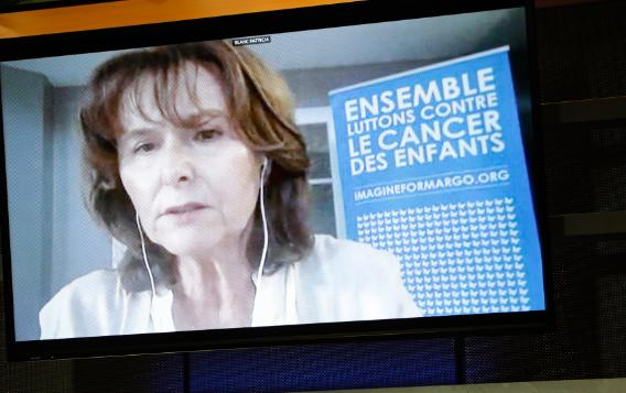 Patricia   Blanc contributes remotely to the Beating Cancer Committee public hearing on childhood and rare cancers