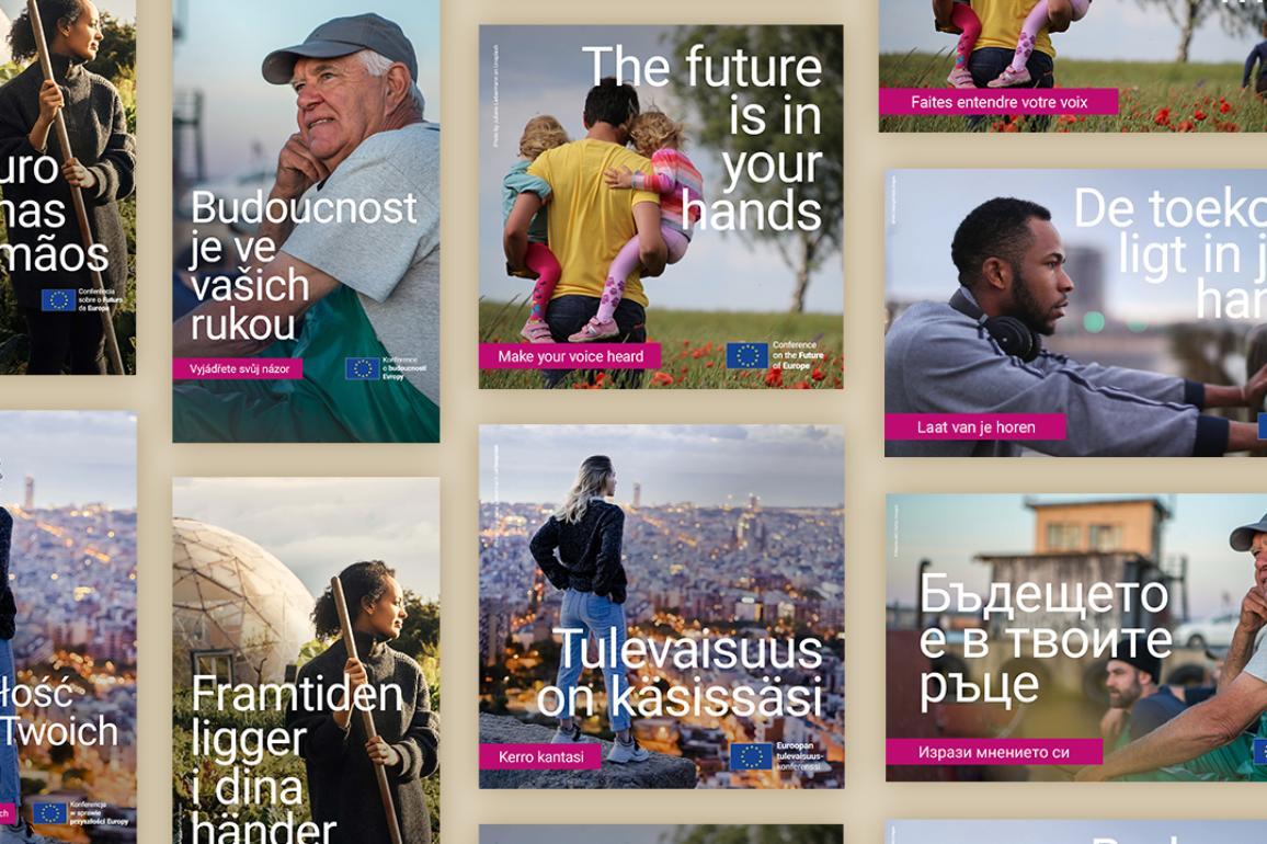 Conférence sur l'avenir de l'Europe : supports de campagne